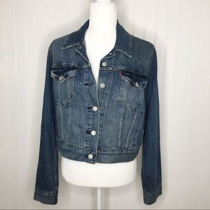 Levi's Jackets & Coats - Levi's iconic Cropped Trucker Jean Jacket Size L